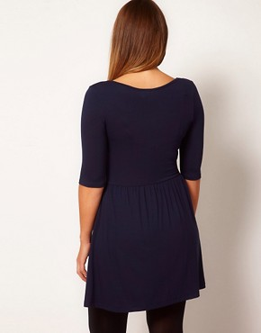 Image 2 ofASOS CURVE Skater Dress With Zip Front