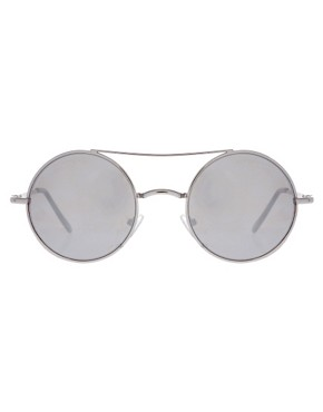 Image 2 of ASOS Metal Round With Mirror Lens & High Bar Detail