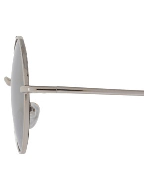 Image 4 of ASOS Metal Round With Mirror Lens & High Bar Detail