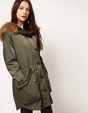 Selected - Parka oversize stile militare