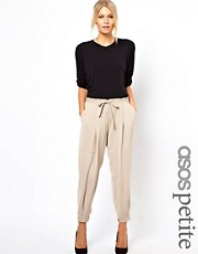 ASOS PETITE Luxe Tapered Trousers