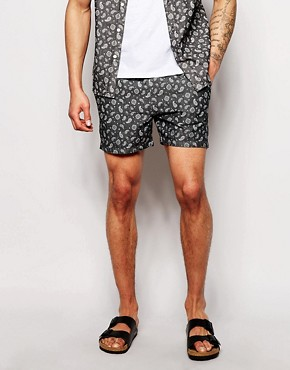 ASOS Chino Shorts With Paisley Print Co-Ord