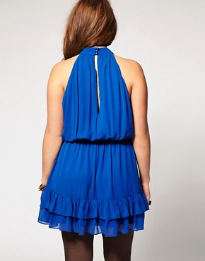 Image 2 ofASOS CURVE Dress with Ruffle Hem