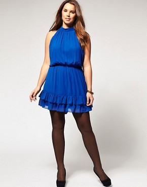 Image 4 ofASOS CURVE Dress with Ruffle Hem