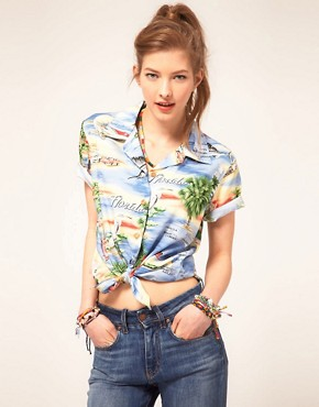 Image 1 ofParadise Found Florida Hawaiian Shirt