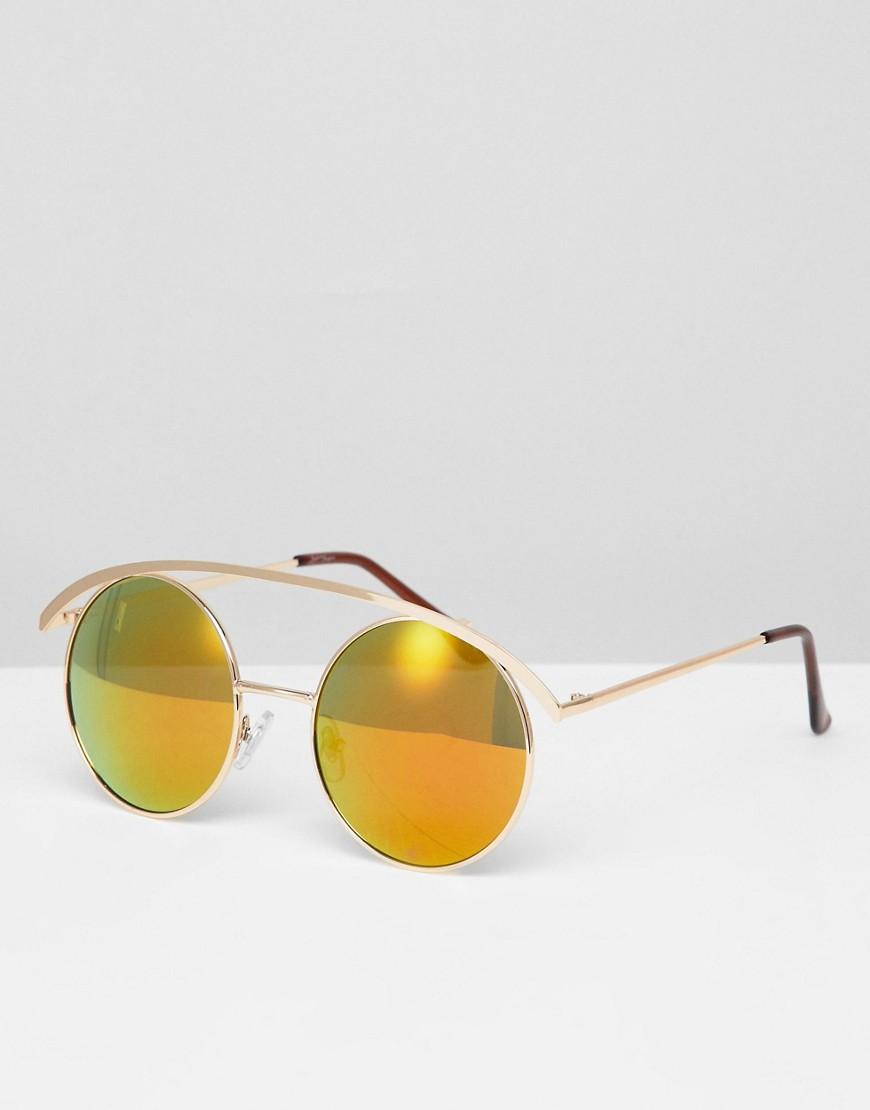 Розовые круглые солнцезащитные очки с затемненными стеклами Jeepers Pe Jeepers Peepers