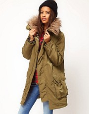 ASOS Button Front Parka