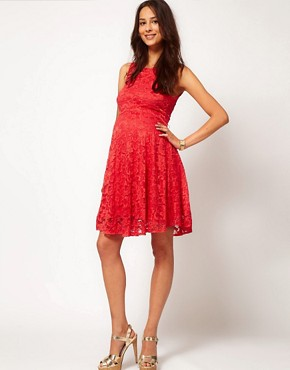 Image 4 of ASOS Maternity Exclusive Lace Skater Dress