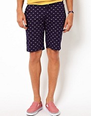 Addict Chino Shorts Navarrow Standard Arrow Print