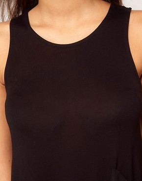 Image 3 ofASOS Top with Slit Side and Pocket in Woven