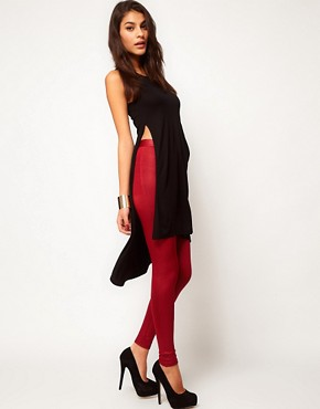 Image 4 ofASOS Top with Slit Side and Pocket in Woven