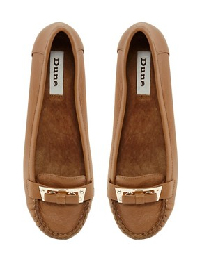 Image 4 ofDune Lancer Tan Leather Moccasins