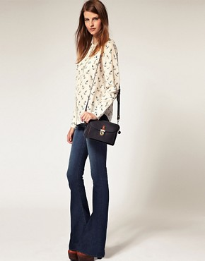 Image 1 ofJ Brand Martini Mid Rise Skinny Flare Jean in Mayflower