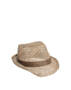 Image 1 ofASOS Seagrass Paisley Trilby