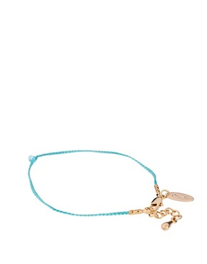 Image 2 ofOrelia Exclusive To ASOS Turquoise Friendship Bracelets