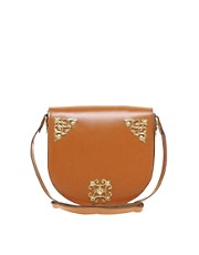 ASOS Leather Ornate Saddle Bag