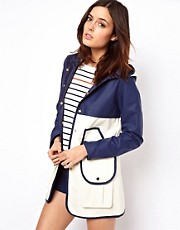 ASOS Block Rain Trench