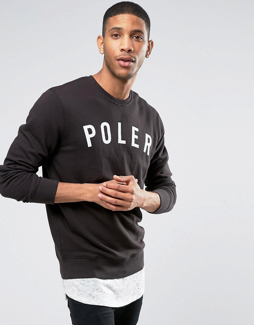 poler-sweatshirt-with-large-logo-black