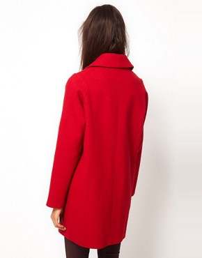 Image 2 ofASOS Biker Cocoon Coat