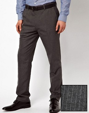 Image 1 ofASOS Slim Fit Smart Trousers in Pinstripe