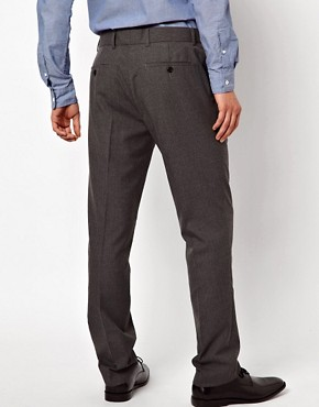 Image 2 ofASOS Slim Fit Smart Trousers in Pinstripe