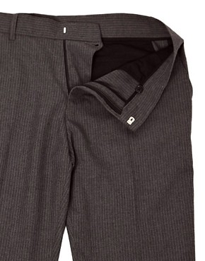 Image 3 ofASOS Slim Fit Smart Trousers in Pinstripe