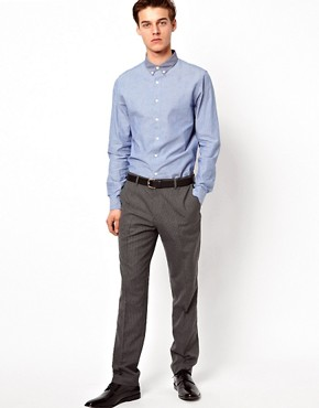 Image 4 ofASOS Slim Fit Smart Trousers in Pinstripe
