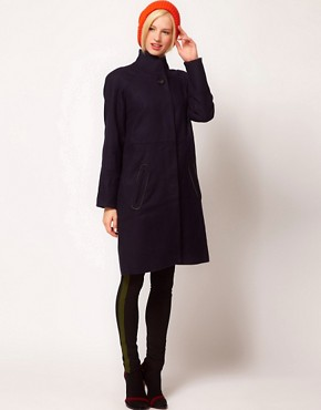 Image 1 ofBaum Und Pferdgarten Funnel Neck Coat in Wool