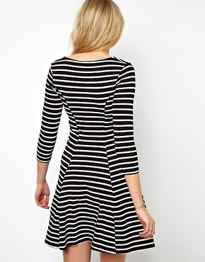 Image 2 of ASOS Maternity Skater Dress In Stripe