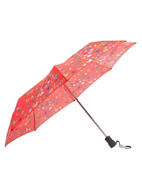 Image 1 ofMoschino Cheap &amp; Chic Hearts Umbrella