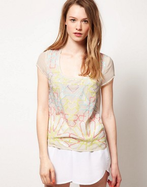 Image 1 ofWarehouse Fluoro Sequin T-Shirt