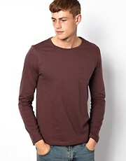 ASOS Long Sleeve Crew Neck T-Shirt With Pocket
