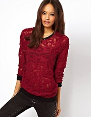 ASOS Sweatshirt with Burnout Graphic