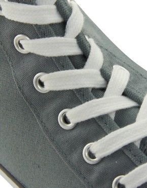 Image 2 ofCheap Monday Birdman Hi-Top Plimsolls