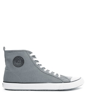 Image 4 ofCheap Monday Birdman Hi-Top Plimsolls