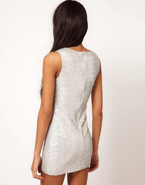 Image 2 ofTFNC Sequin Dress Sleeveless
