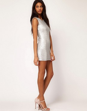 Image 4 ofTFNC Sequin Dress Sleeveless