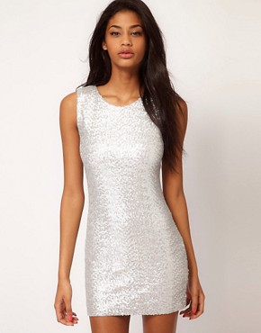 Image 1 ofTFNC Sequin Dress Sleeveless
