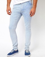 ASOS Super Skinny Jeans With Bright Acid Wash