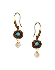 Sam Ubhi Pearl Charm Earrings