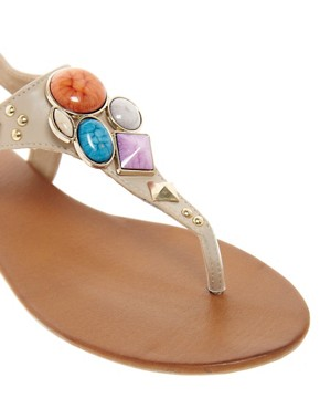 Image 2 ofALDO Bichoupan Jewelled Flat Sandals
