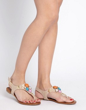 Image 3 ofALDO Bichoupan Jewelled Flat Sandals