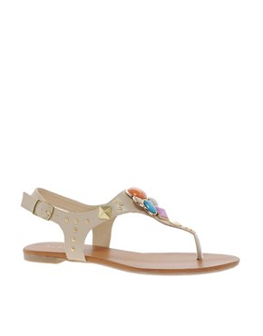 Image 1 ofALDO Bichoupan Jewelled Flat Sandals