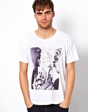 American Apparel T-Shirt With Double Scoop Print