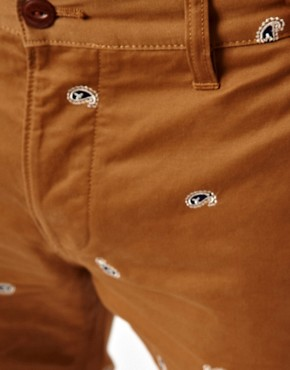Image 3 ofASOS Slim Chino With Embroidery
