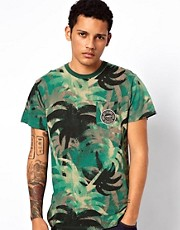 Vans T-Shirt Drained Palm Camo Print