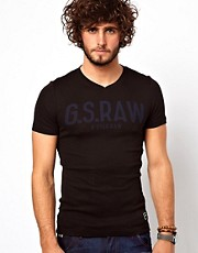 G Star T-Shirt Hinault V-Neck Logo