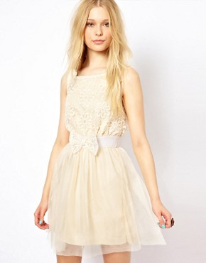 AX Paris Prom Dress :  bow mesh dress belt