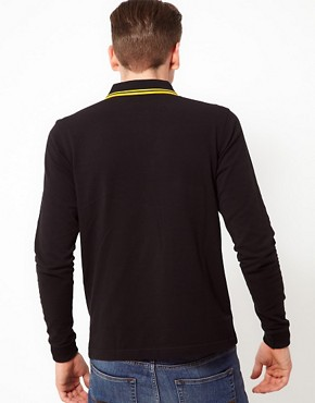 Image 2 ofFred Perry Polo Slim Long Sleeved Twin Tipped