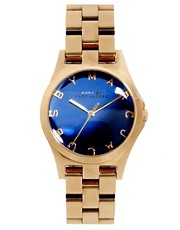 Marc By Marc Jacobs Exclusive To ASOS Henry Rose Gold Watch With Blue Face